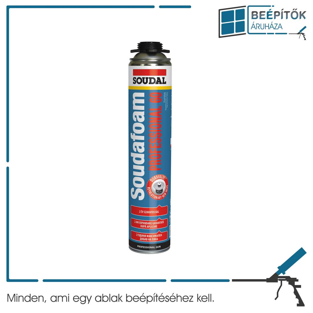 Soudal Professional 60 pisztolyhab